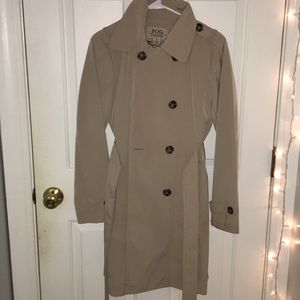 Long Cream Trench Coat 🧥